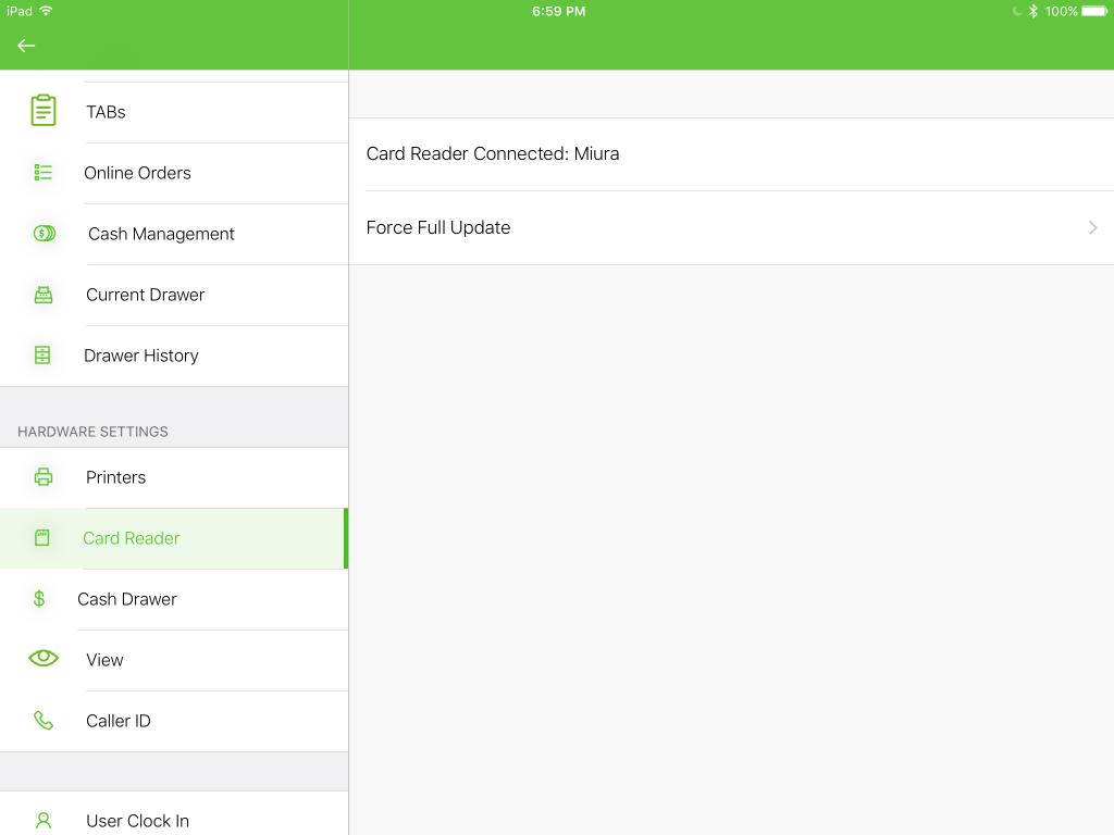 Miura Card Reader - Setup Miura Device in the LineSkip POS